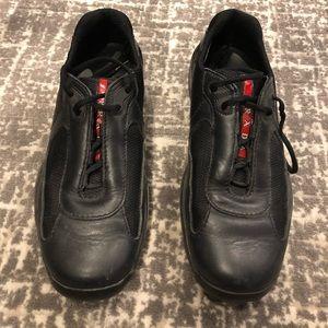 Prada Nylon & Leather Classic Sneaker